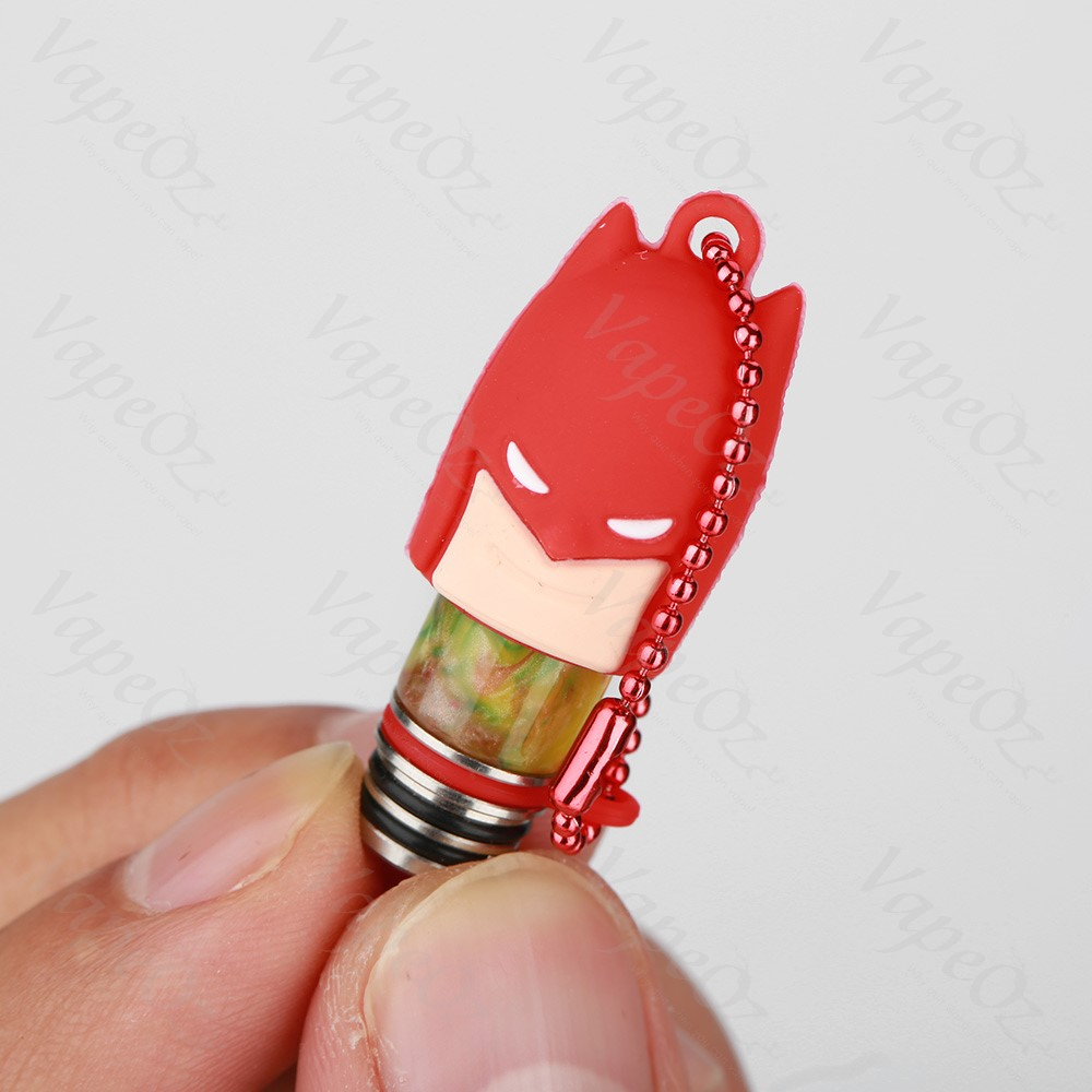 Drip Tip Cover Super Red Batman Open