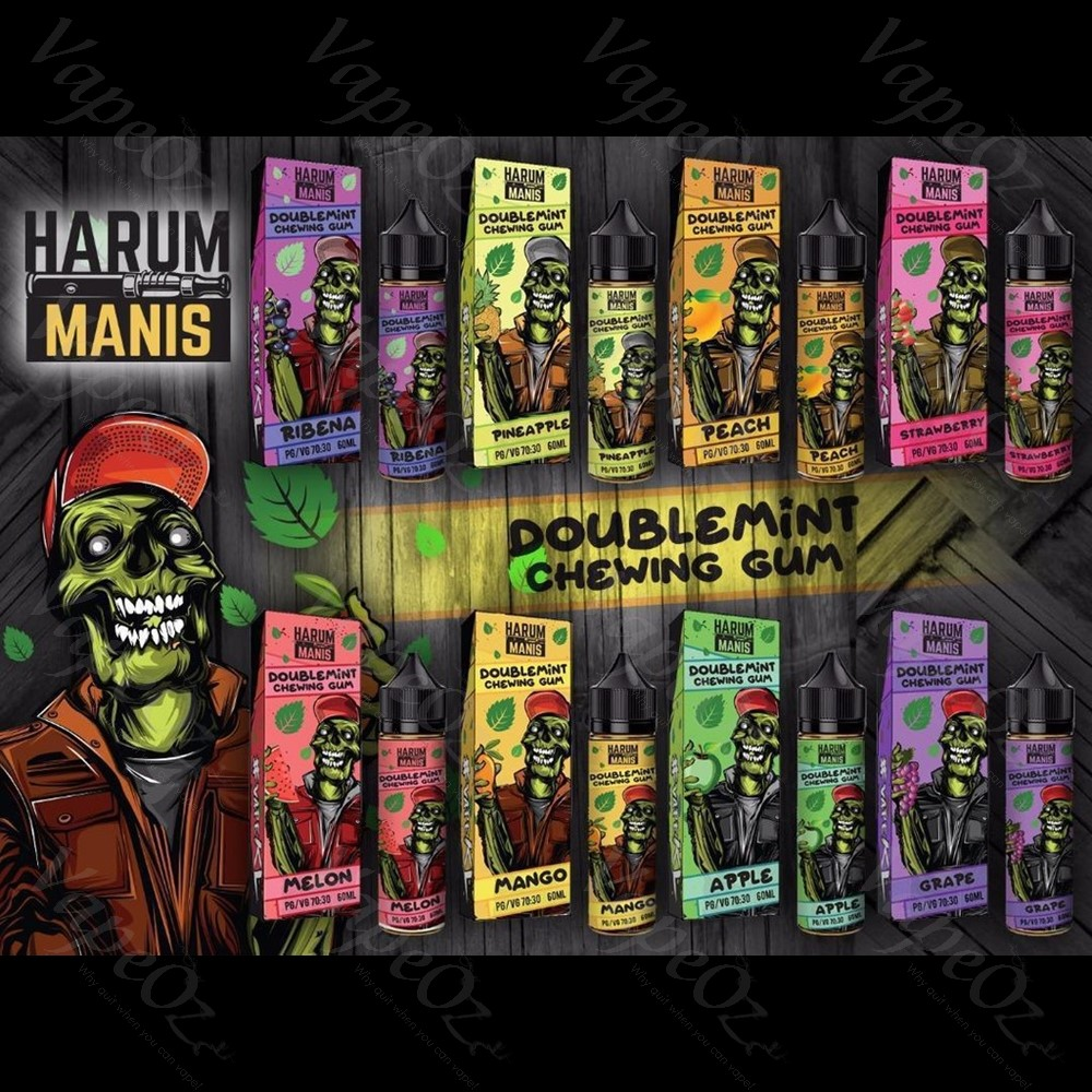 Harum Manis Doublemint Chewing Gum Ejuice Options VapeOz