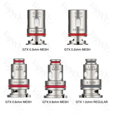 vaporesso gtx coils Options VapeOz