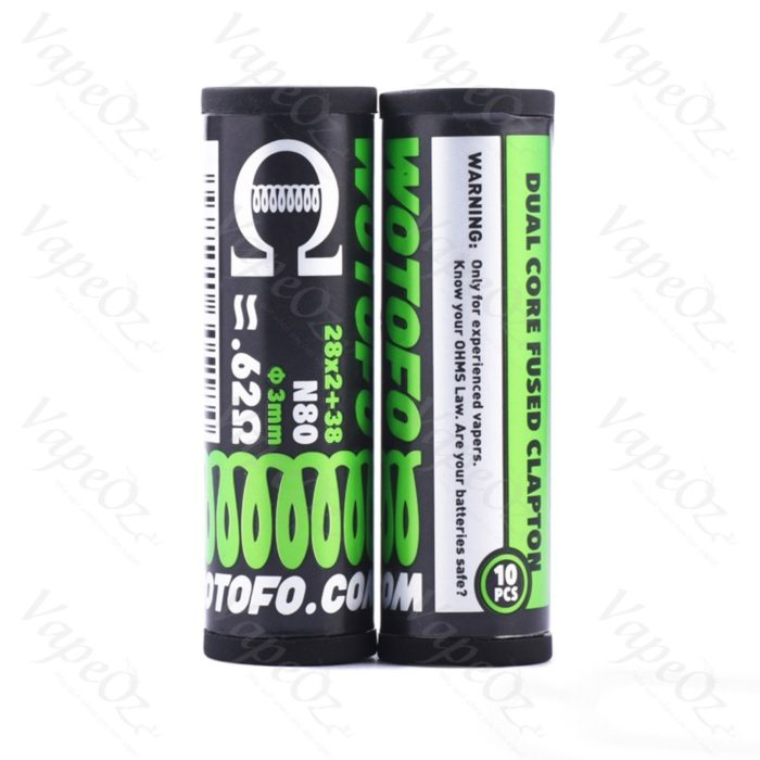 0.9ohm Dual Core Fused Clapton Package VapeOz